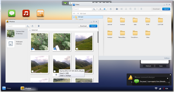 how to download photos from airdroid